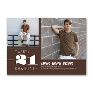 Accented Lines Graduation Announcement Icon