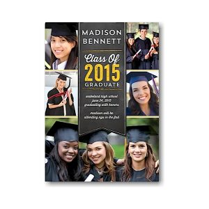 Banner Collage Gold Graduation Announcement Icon