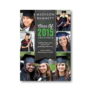 Banner Collage Green Graduation Announcement Icon