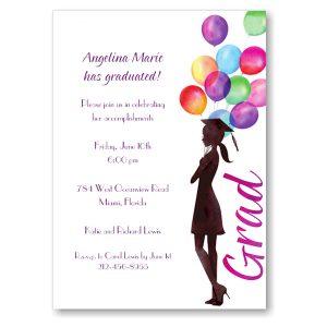 Beautiful Balloons Graduation Party Invitation Icon