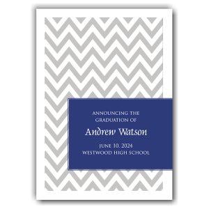 Chevron Gray Custom Color Wrap Graduation Announcement Icon