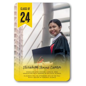 Class of Flag Gold Graduation Announcement Icon
