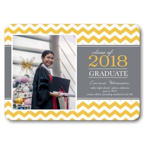 Classic Chevron Gold Graduation Announcement Icon