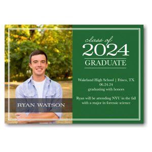 Classic Green Graduation Announcement Icon