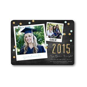 Confetti Snapshots Mint Graduation Announcement Icon