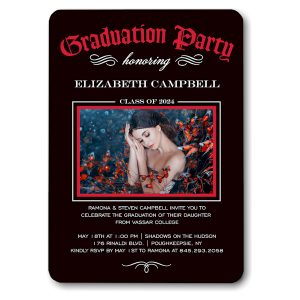 Diploma Party Red Graduation Announcement Icon