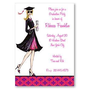 Gorgeous Grad Blonde Graduation Party Invitation