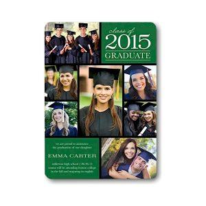 Grad Class Moments Green Graduation Announcement Icon