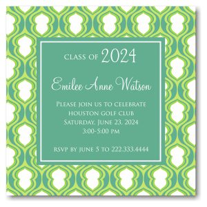Lime Hourglass Solid Center Graduation Announcement Icon
