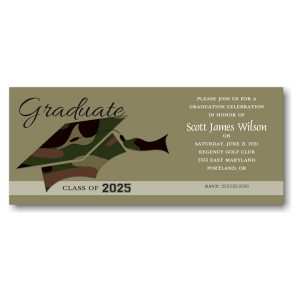 Long Camo Graduation Hat Graduation Announcement Icon