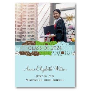 Modern Mums Wrap Photo Graduation Announcement Icon