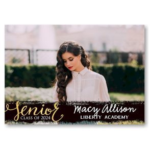 Painted Overlay Photo Graduation Announcement Icon