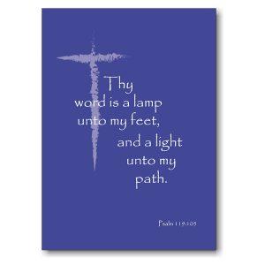 Psalm 119105 in Blue Graduation Announcement Icon