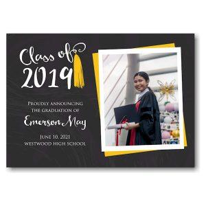 Tassel Gold Photo Graduation Announcement Icon