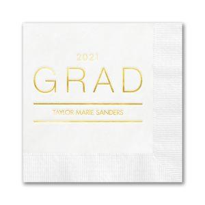 Grad Lines Foil Beverage Napkin Icon