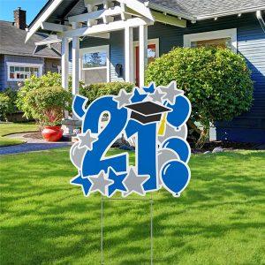 Graduation Feat Yard Sign - 2021 Alt